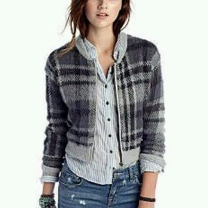 Free People Oh My Plaid Sweater Size Small